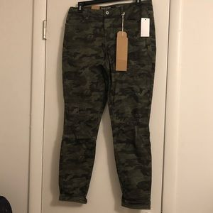 Green Camouflage Skinny Jeans